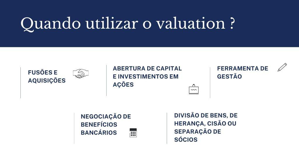 Quando utilizar o valuation ?